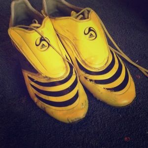 Adidas F30 yellow soccer cleats